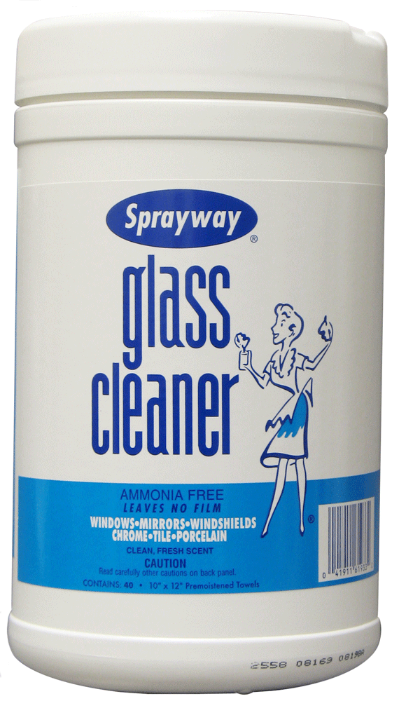 Sprayway Claire 933 Glass Cleaner Wipes 40 Wipes