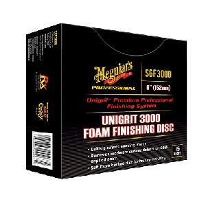 "Meguiars S6F3000 60-4550-5021-5 Unigrit 6"" P3000 Finishing Disc - 15 Pack"