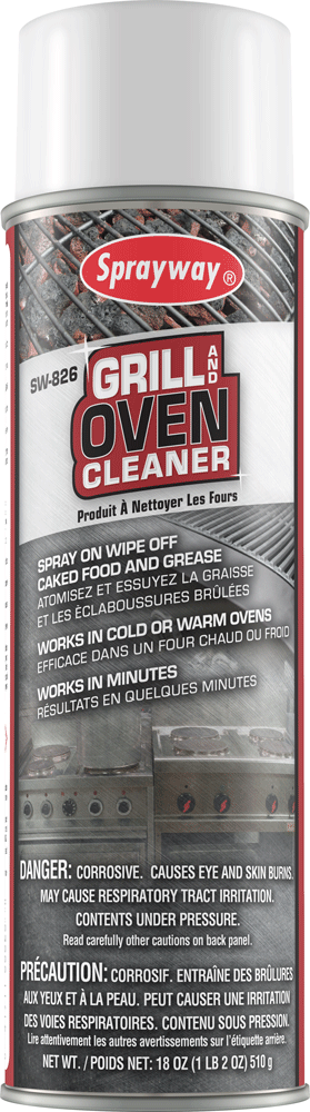 Sprayway 826 Grill & Oven Cleaner 18 oz