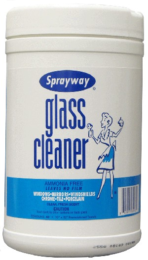 Sprayway-Claire 933 Glass Cleaner Wipes - 40 Wipes