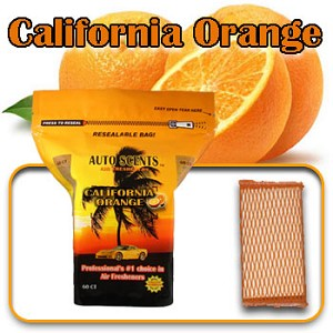 Auto Scents California Orange Scent - 60 Pack
