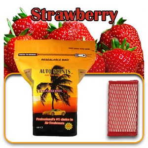 Auto Scents Strawberry Scent - 60 Pack