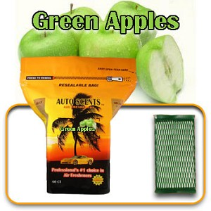 Auto Scents Green Apple Scent - 60 Pack