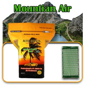 Auto Scents Mountain Air Scent - 60 Pack