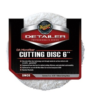 "Meguiars DMC6 DA Microfiber Cutting Disc - 6"" - 2 Pack"