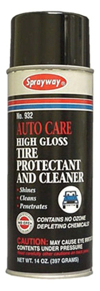 Sprayway 932 High Gloss Tire Protectant & Cleaner 14 oz