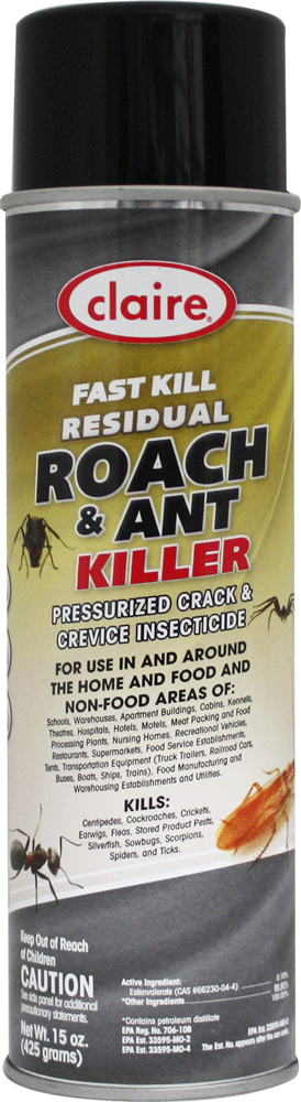 Sprayway-Claire 301 Fast Kill Residual Roach and Ant Killer 15 oz